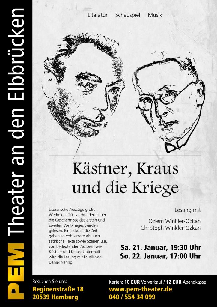 Lesung im PEM Theater an den Elbbrücken: Käster, Kraus und die Kriege